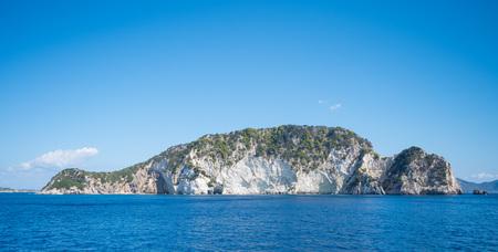 Marathonisi island in Ionian sea near island Zakynthos