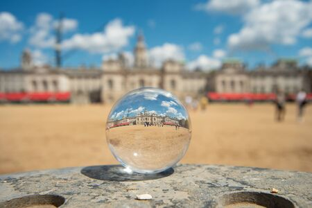 Dover in cental London in glass ball.