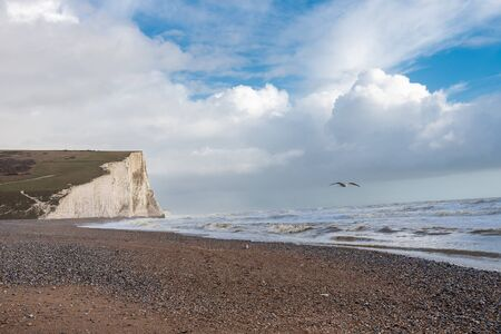 Seven sisters cliffs in Great Britain.