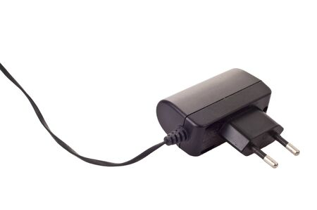 Mobile charger isolated on a white background photo