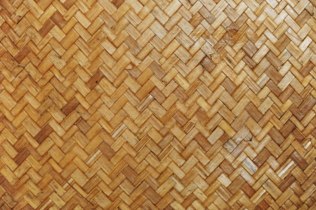 Native Thai style bamboo wall photo