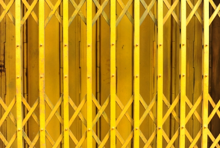 Yellow steel door  Stock Photo - 20368727