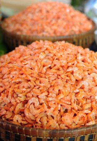 Dried shrimp prepared for cooking in Thailand market Reklamní fotografie