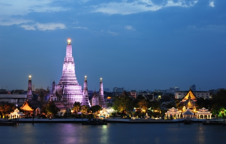 Wat Arun Temple in bangkok thailand photo