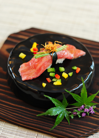 Premium wagyu sushi