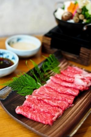 beef for shabushabu Stock Photo