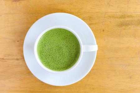 green powder: Matcha Latte Cup of green tea