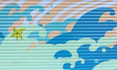 undersea paint on wall photo