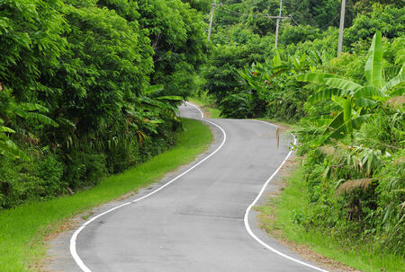 road on the mountains in Thailand photo