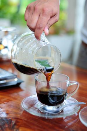americano: Pour coffee americano