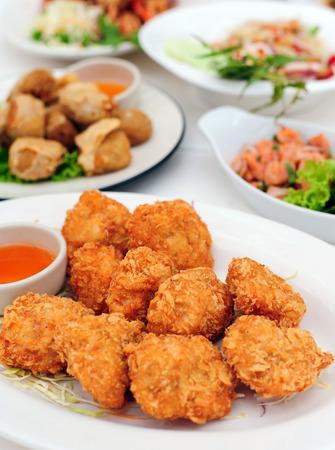 fried shrimp pancake , Thai food photo