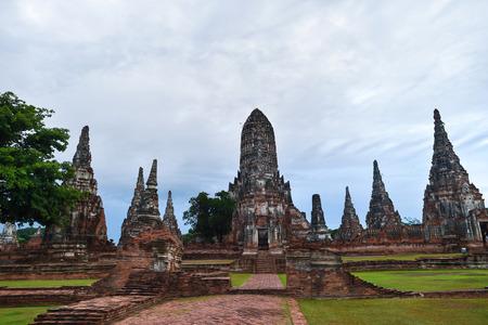 ayuthaya: Chaiwatthanaram Temple in Ayutthaya,Thailand in evening moods