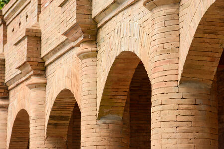 Old brick building photo