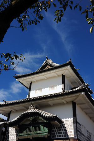 Traditional White Castle in japan