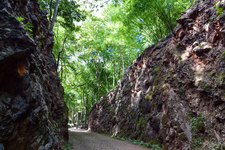 hellfire: Hellfire Pass is the name of a railway cutting on the former \Death Railway\, Stock Photo