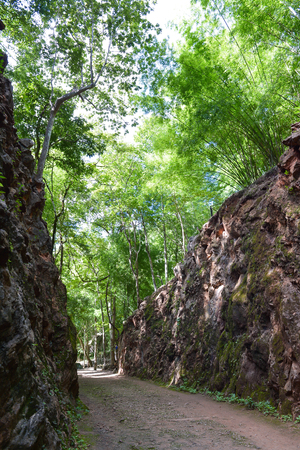 hellfire:  Hellfire Pass is the name of a railway cutting on the former \Death Railway\
