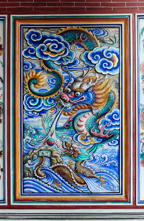 Marble carving in Chinese temple