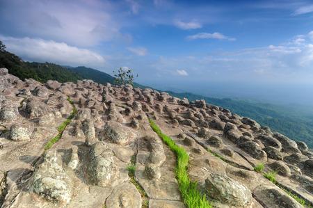 Laan Hin Pum Viewpoint at Phu Hin Rong Kla National Park, Phitsanulok, Thailand.