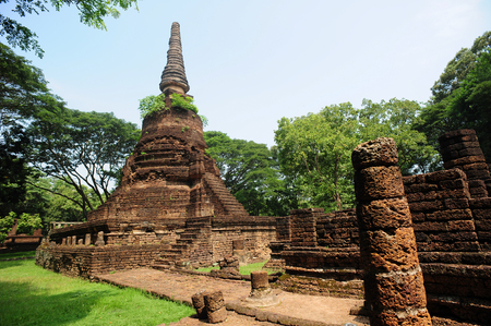 16 year old: Si Satchanalai the old temple of Thailand in 800 year ago  on October 16 ,2014,Sukhothai , Thailand