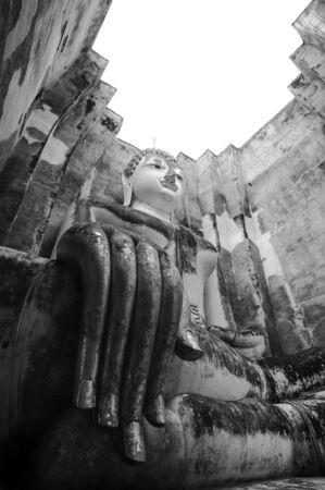 ajana: Phra Ajana, the big Buddha statue at Wat Si Chum, Sukhothai Historical Park, Thailand