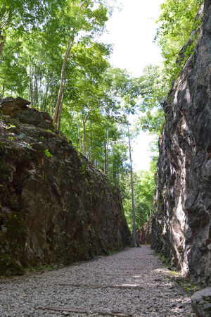 hellfire: Hellfire Pass is the name of a railway cutting on the former Death Railway