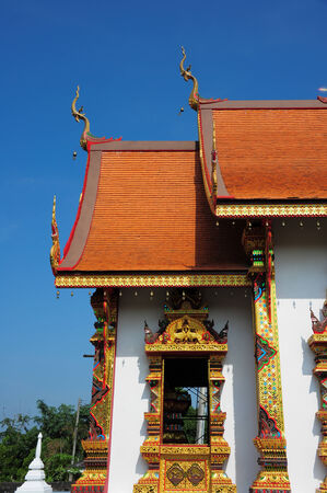 LAmazing Lanna architectural styles of Wat Phra that Chom ping Temple. Lampang, Thailand photo