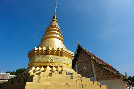 Amazing Lanna architectural styles of Wat Phra that Chom ping Temple. Lampang, Thailand photo