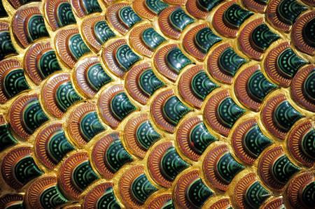 thai style: Traditional thai style art of naga detail