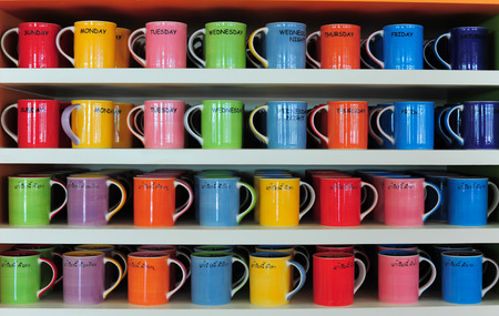 colorful cup of coffee for sale photo