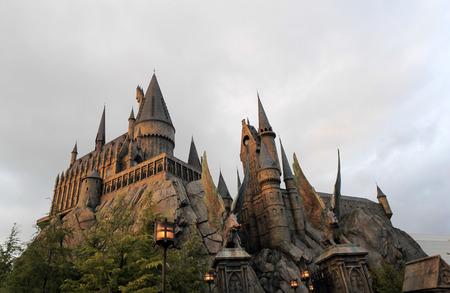 OSAKA, JAPAN - DECEMBER 16: The Wizarding World of Harry Potter in Adventure Island of Universal Studios , December 4, 2014 ,Osaka Japan