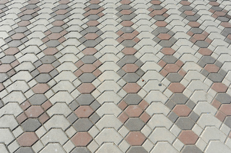 Floor of a street with stone tiles, photo