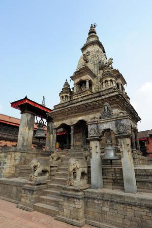 going places: BHAKTAPUR, NEPAL-FEBRUARY 17, 2015: Temples of Durbar Square in Bhaktapur Kathmandu valey Nepal, on February 17, 2015. Editorial