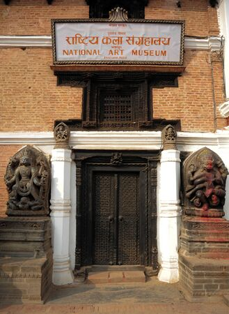 closed community: BHAKTAPUR NEPALFEBRUARY 17 2015: Elements of carved art on a Durbar square of Bhaktapur on February 17 2015. Bhaktapur is a cultural gem in Nepal