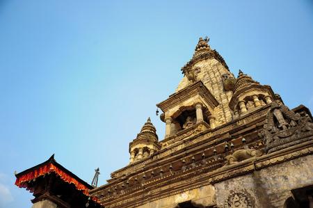 going places: BHAKTAPUR NEPALFEBRUARY 17 2015: Temples of Durbar Square in Bhaktapur Kathmandu valey Nepal on February 17 2015.
