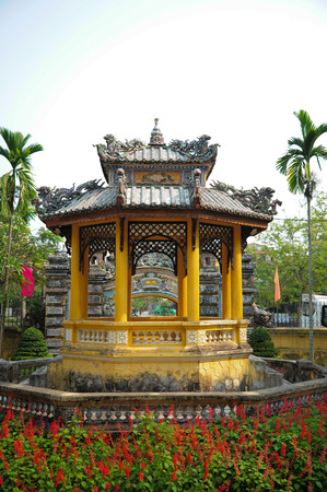 17 march: HUE VIETNAM  MARCH 17 2015 : Front Palace of Cung an dinh in Hue vietnam on 17 March 2015. Editorial