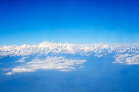 eventide: himalaya from airplane