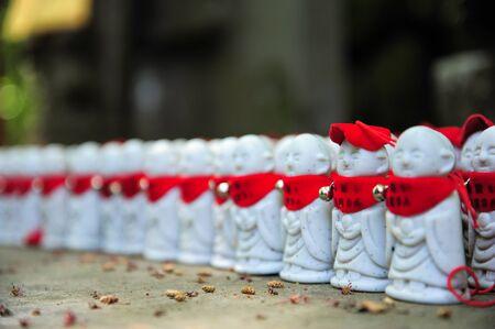 statuettes: Jizo statuettes Stock Photo