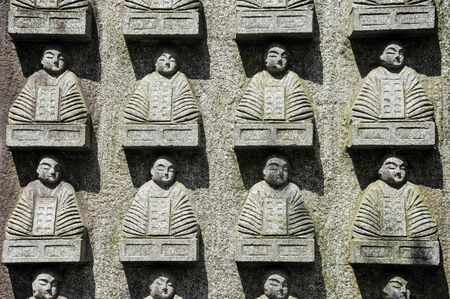 jizo: Jizo statuettes on wall