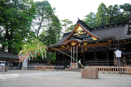 SENDAI,JAPAN-JULY 7:Osaki Hachimangu Temple ordered by Date Masamune in 1607. The shrines deity, Hachiman, is the Shinto god of war and considered to be a general guardian and protector of the city Editorial