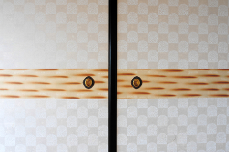 Traditional classic Japanese style sliding paper door