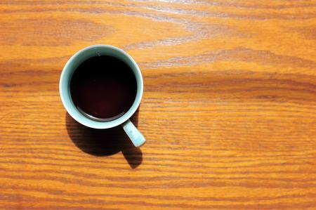 americano: Delicious coffee americano on wood table
