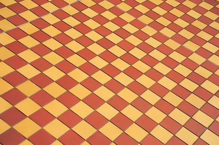 Ceramic Orange And Yellow Tile Mosaic On Floor Tile Mosaic On