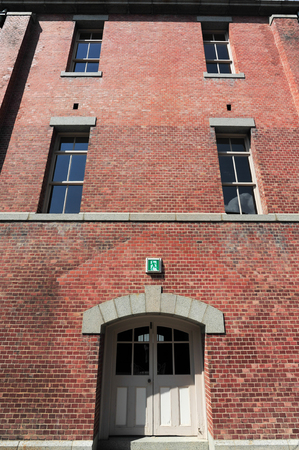 brick building: Old red brick building or factory