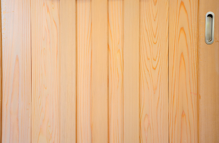sliding: Traditional classic Japanese style sliding wooden door Stock Photo