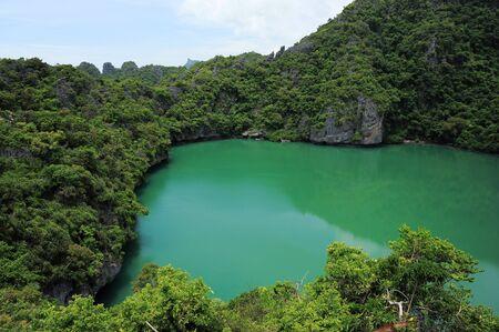 angthong: Thale Nai lagoon, Mae Koh island, Ang Thong National Marine Park, Thailand Stock Photo