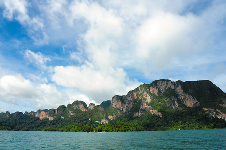 sok: Beautiful mountains and river natural attractions in Ratchaprapha Dam at Khao Sok National Park, Surat Thani Province, Thailand.