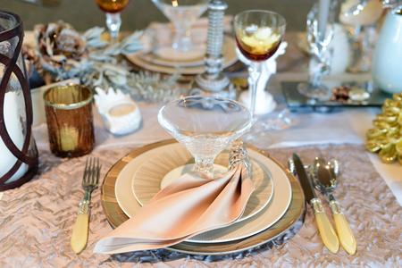 Elegance Luxury Tableware Setup for Dinner