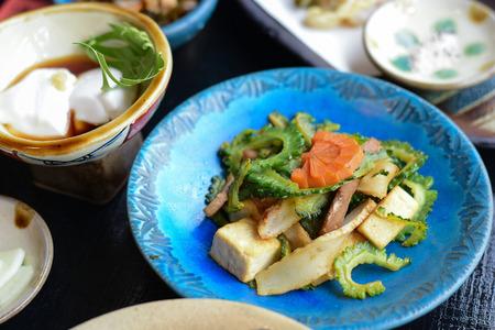 Stir-fried Bitter Gourd a Signature menu in Okinawa