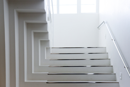 illusion staircase design Stock Photo
