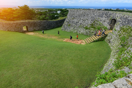 Zakimi Castle is a Ryukyuan gusuku in Yomitan, Okinawa. It is in ruins, but the walls and foundations have been restored. It was built between 1416 and 1422 by the renowned Ryukyuan general Gosamaru Redakční